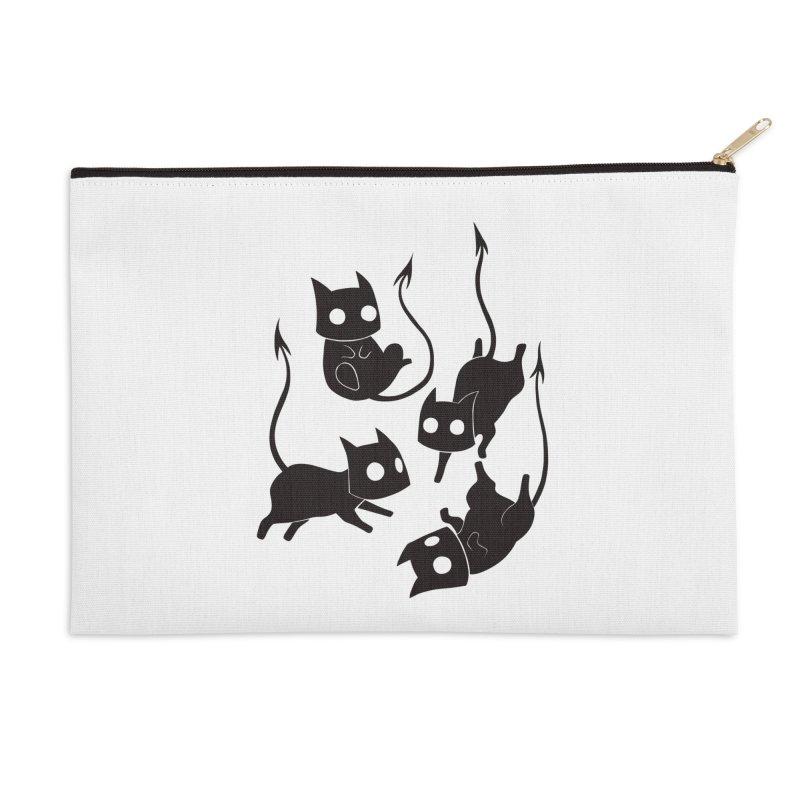Demon Cats Accessories Zip Pouch by Behemot's doodles
