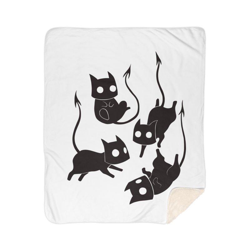 Demon Cats Home Blanket by Behemot's doodles