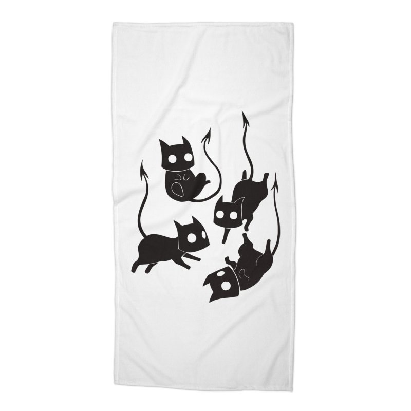 Demon Cats Accessories Beach Towel by Behemot's doodles