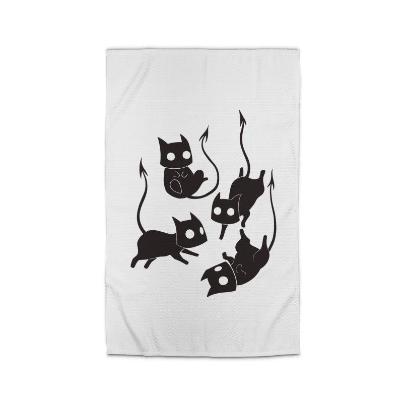 Demon Cats Home Rug by Behemot's doodles