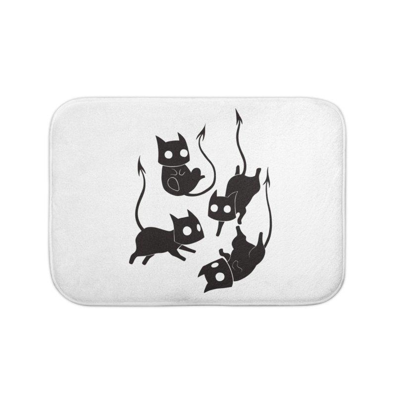 Demon Cats Home Bath Mat by Behemot's doodles