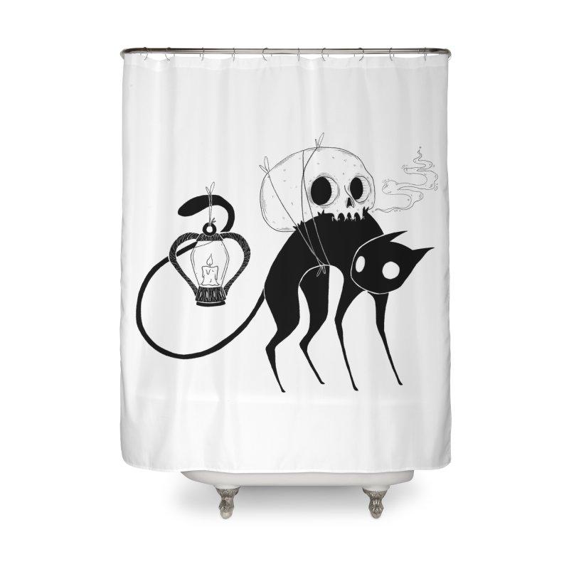 The Familiar Home Shower Curtain by Behemot's doodles