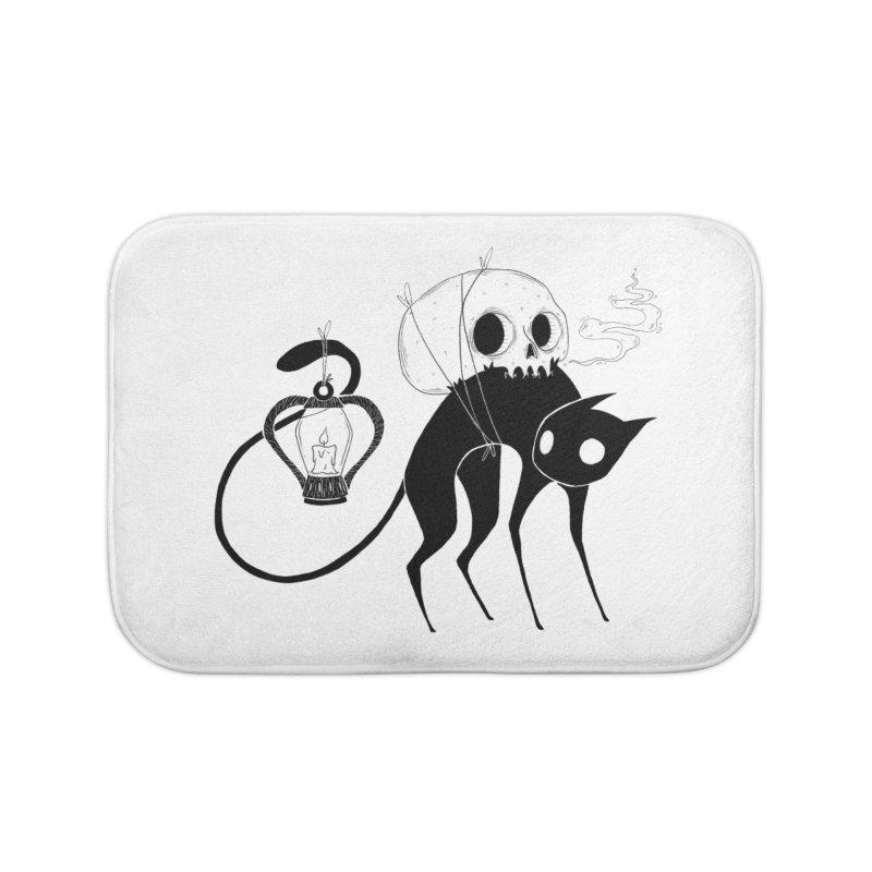 The Familiar Home Bath Mat by Behemot's doodles