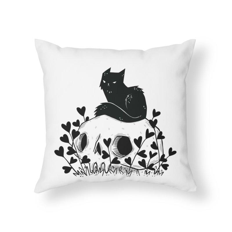 Hater Home Throw Pillow by Behemot's doodles