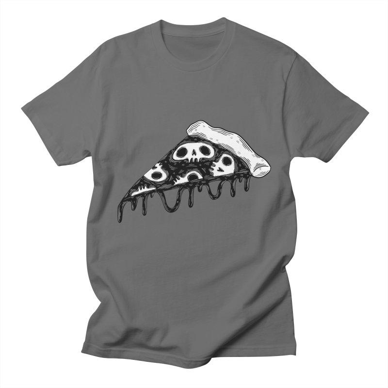 Skull pizza Men's T-Shirt by Behemot's doodles