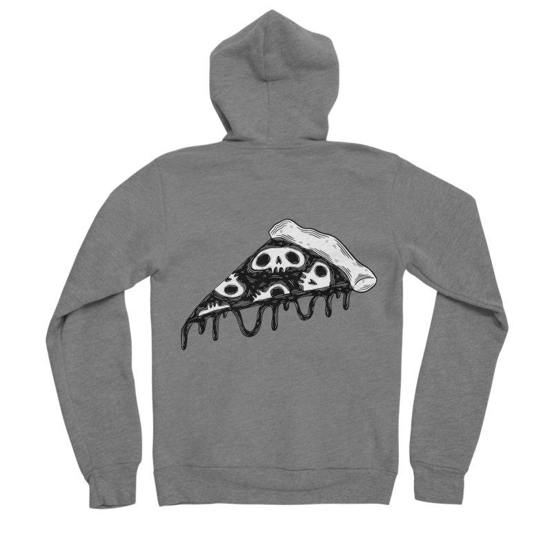 Skull pizza Men's Zip-Up Hoody by Behemot's doodles