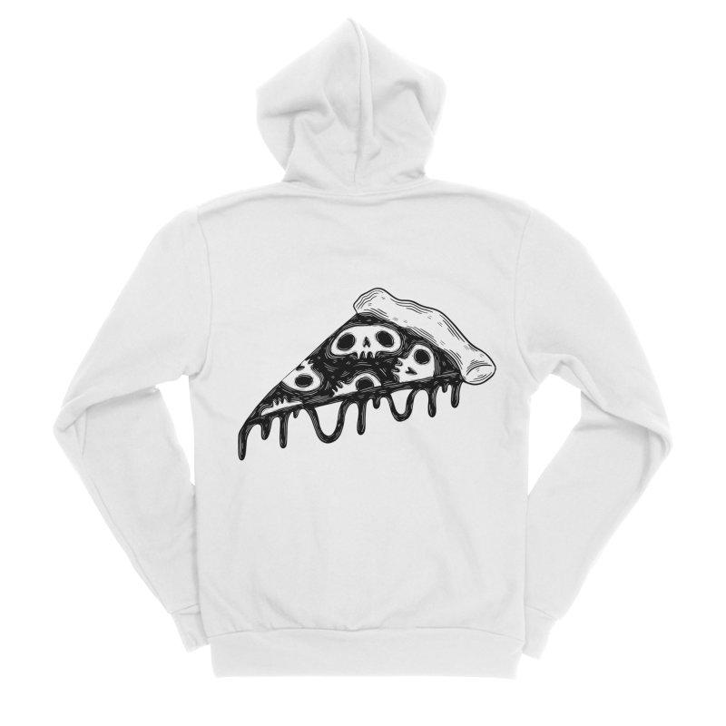 Skull pizza Women's Zip-Up Hoody by Behemot's doodles