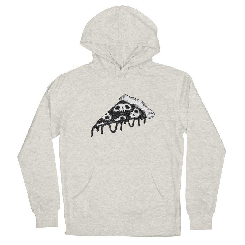 Skull pizza Men's Pullover Hoody by Behemot's doodles