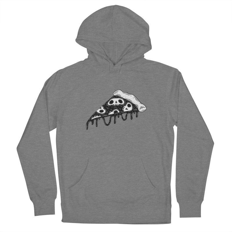 Skull pizza Women's Pullover Hoody by Behemot's doodles