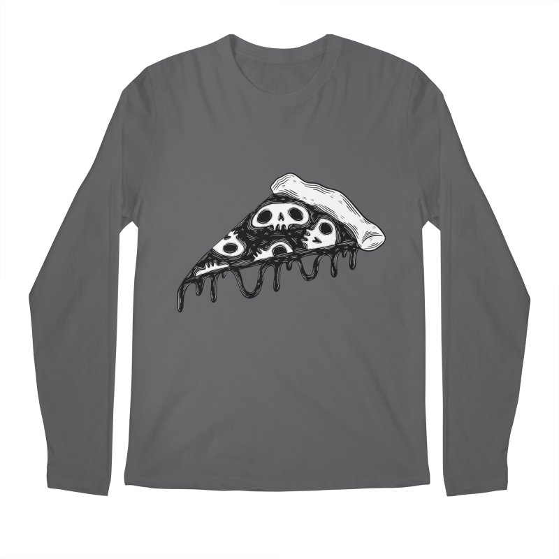 Skull pizza Men's Longsleeve T-Shirt by Behemot's doodles