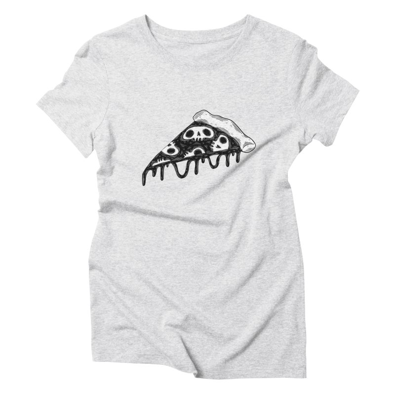 Skull pizza Women's T-Shirt by Behemot's doodles