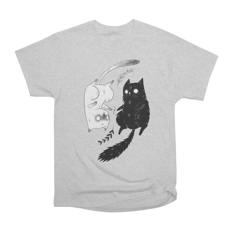 Yin and Yang cats Men's T-Shirt by Behemot's doodles