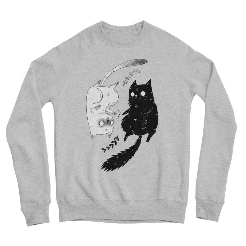 Yin and Yang cats Men's Sweatshirt by Behemot's doodles