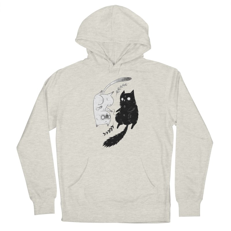 Yin and Yang cats Men's Pullover Hoody by Behemot's doodles