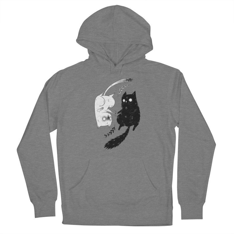 Yin and Yang cats Women's Pullover Hoody by Behemot's doodles