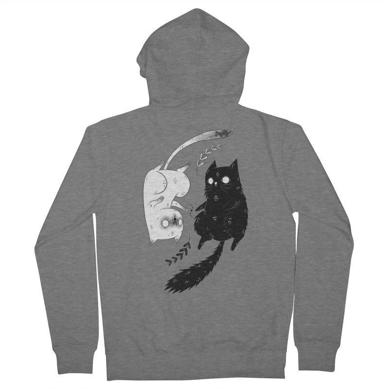 Yin and Yang cats Men's Zip-Up Hoody by Behemot's doodles
