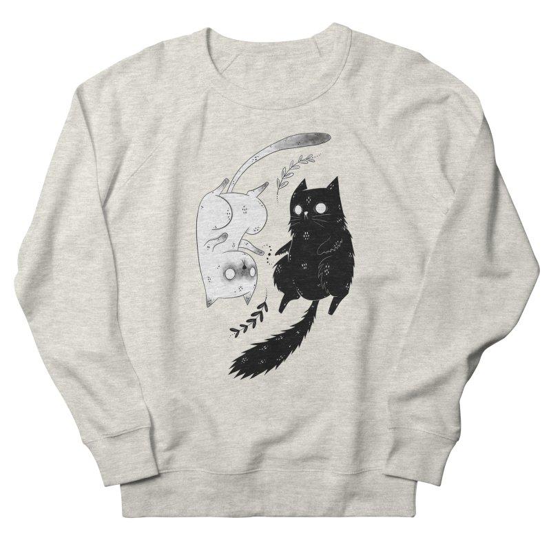 Yin and Yang cats Women's Sweatshirt by Behemot's doodles