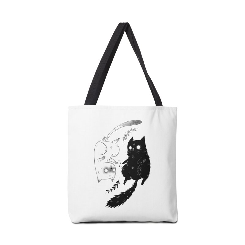 Yin and Yang cats Accessories Bag by Behemot's doodles