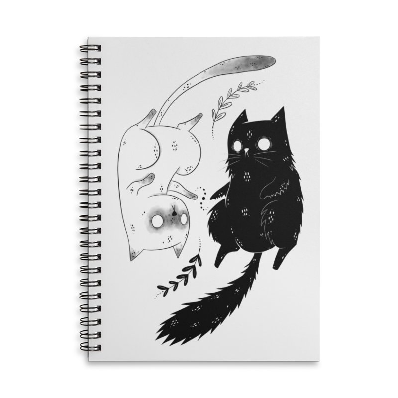Yin and Yang cats Accessories Notebook by Behemot's doodles