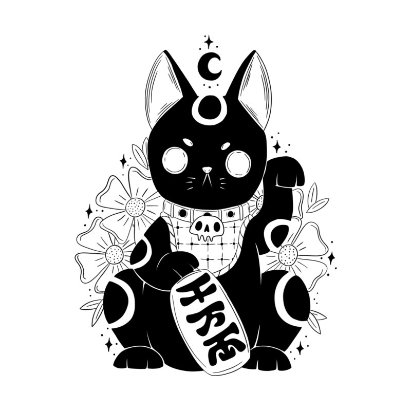 Maneki-neko Men's T-Shirt by Behemot's doodles
