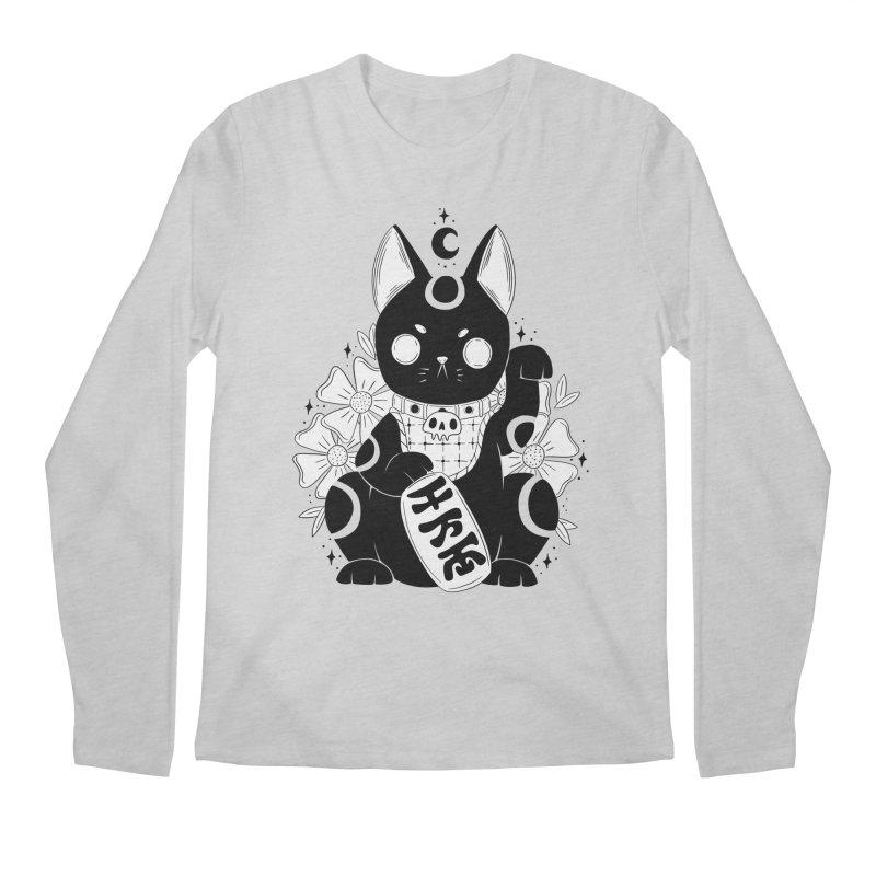 Maneki-neko Men's Longsleeve T-Shirt by Behemot's doodles
