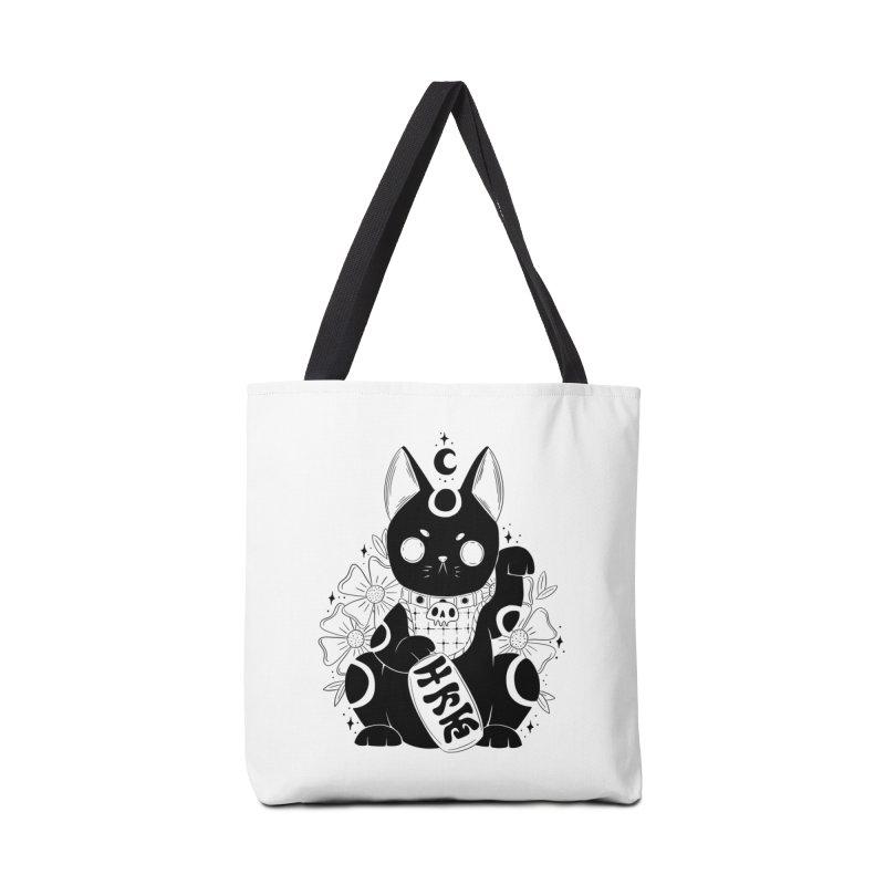 Maneki-neko Accessories Bag by Behemot's doodles