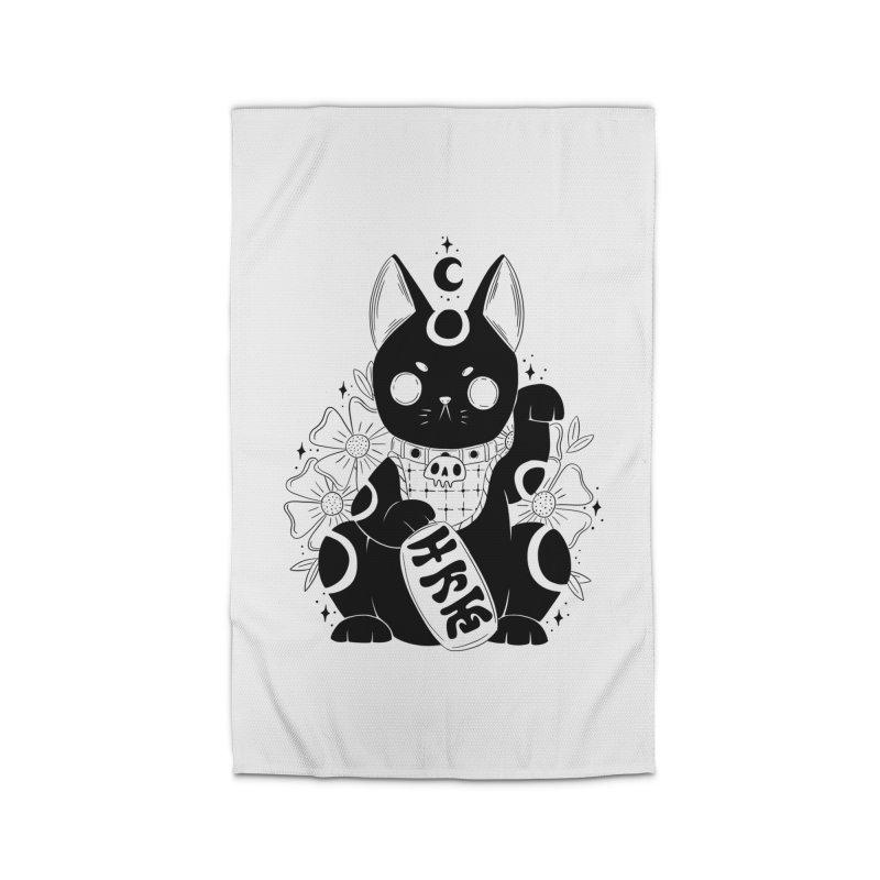 Maneki-neko Home Rug by Behemot's doodles