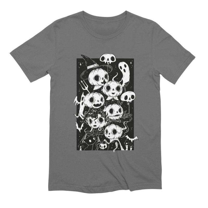 Pumpkin Kids Men's T-Shirt by Behemot's doodles