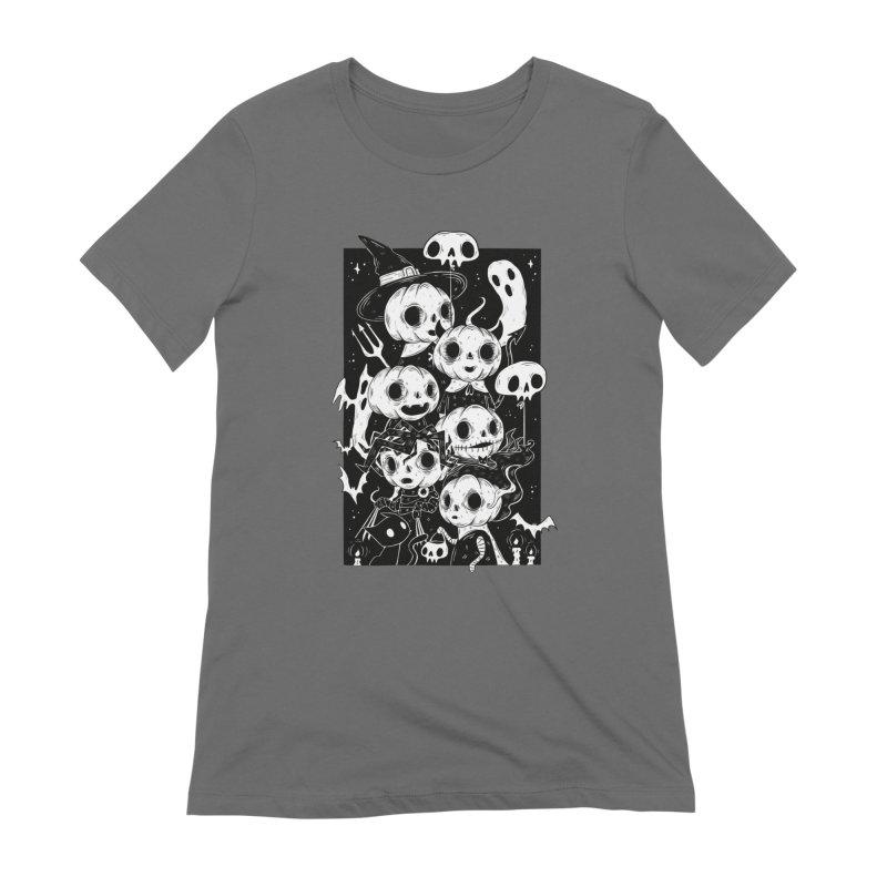 Pumpkin Kids Women's T-Shirt by Behemot's doodles