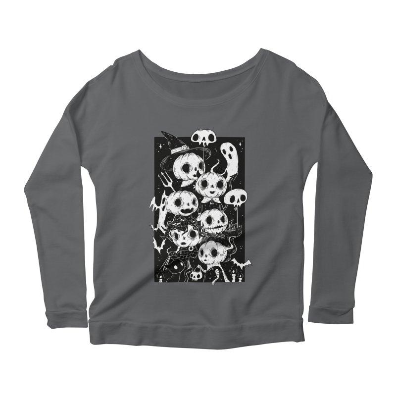 Pumpkin Kids Women's Longsleeve T-Shirt by Behemot's doodles