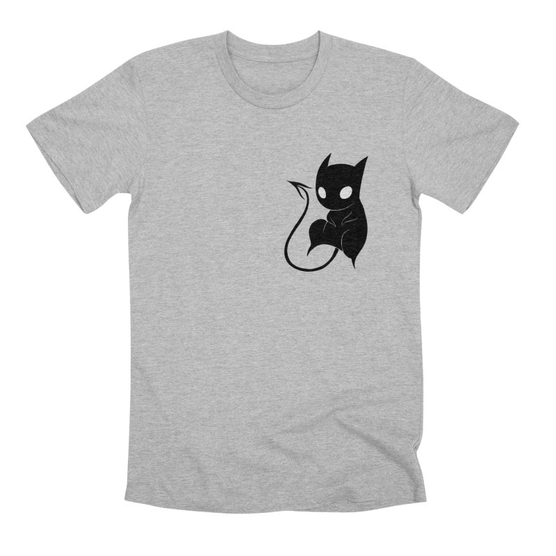 Demon Cat Men's T-Shirt by Behemot's doodles