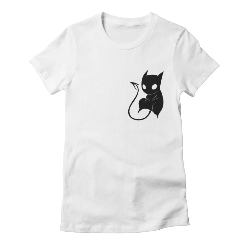 Demon Cat Women's T-Shirt by Behemot's doodles
