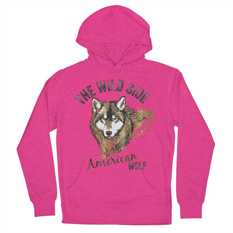 American Wolf Women's Pullover Hoody by behindsky's Shop
