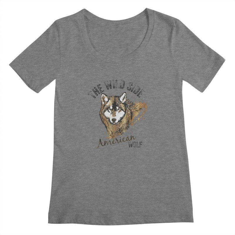 American Wolf Women's Scoopneck by behindsky's Shop
