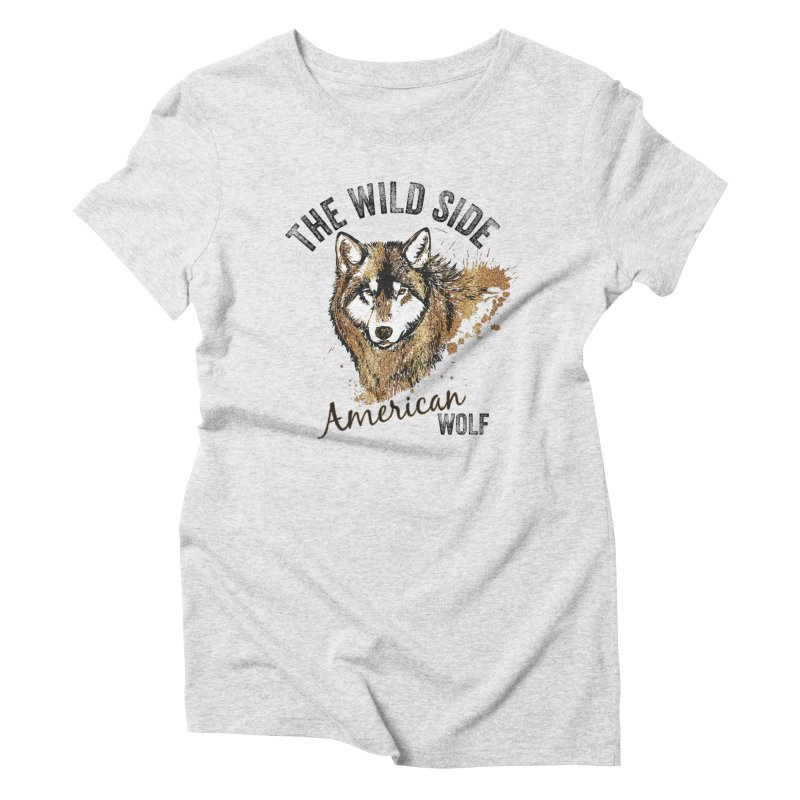 American Wolf Women's Triblend T-Shirt by behindsky's Shop