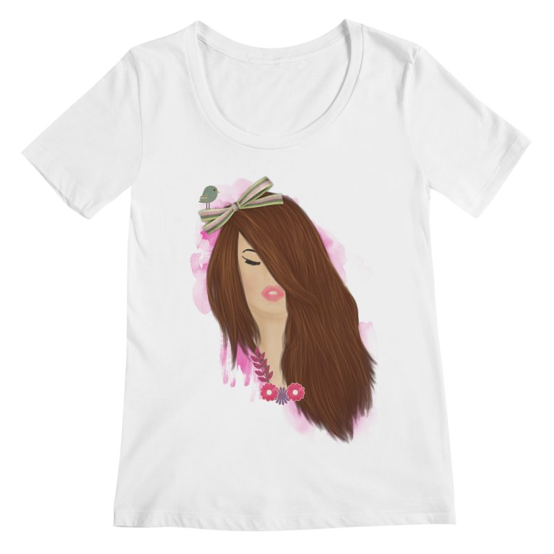 Summertime sadness Women's Scoopneck by behindsky's Shop