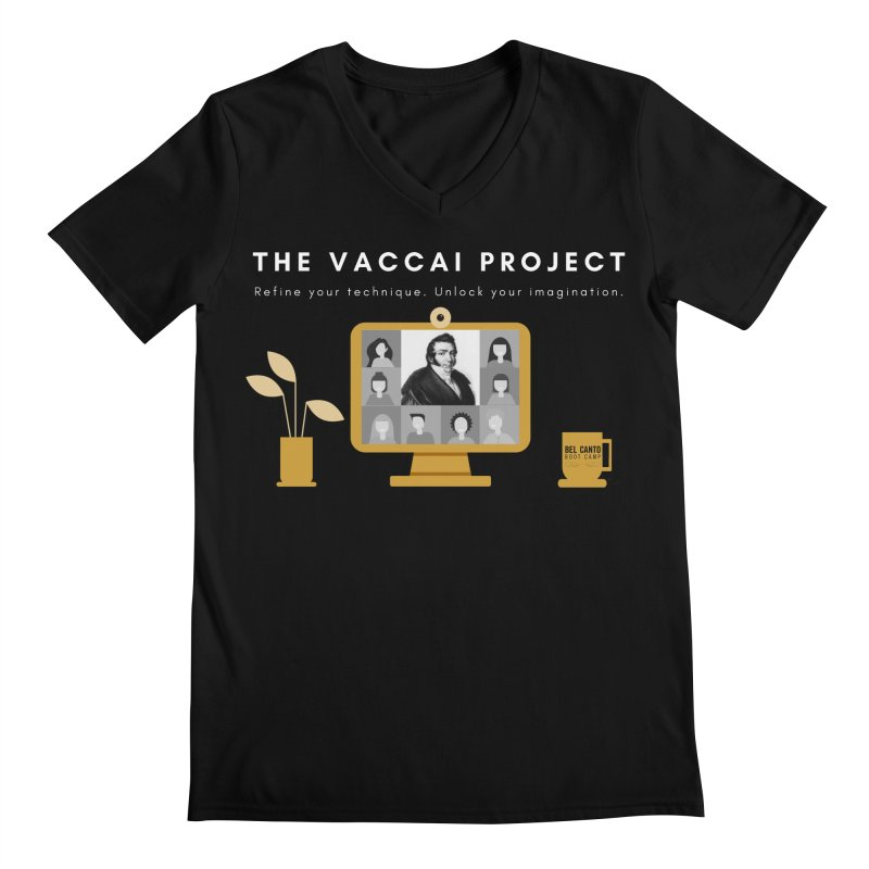 The Vaccai Project Men's V-Neck by belcantobootcamp's Artist Shop