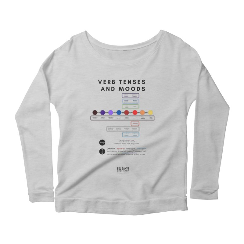 Verb tenses Women's Longsleeve T-Shirt by belcantobootcamp's Artist Shop