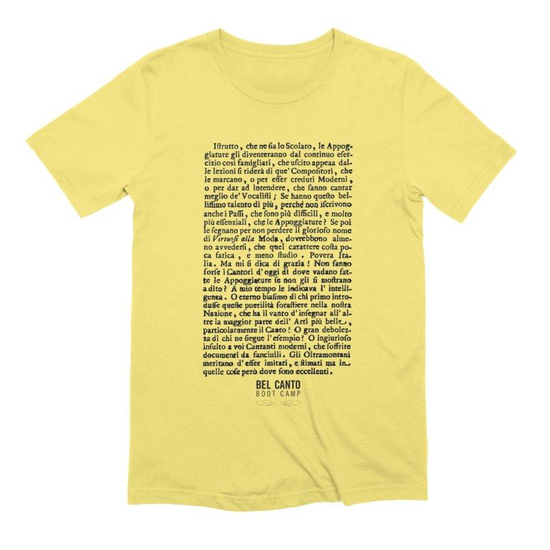 Tosi Men's T-Shirt by belcantobootcamp's Artist Shop