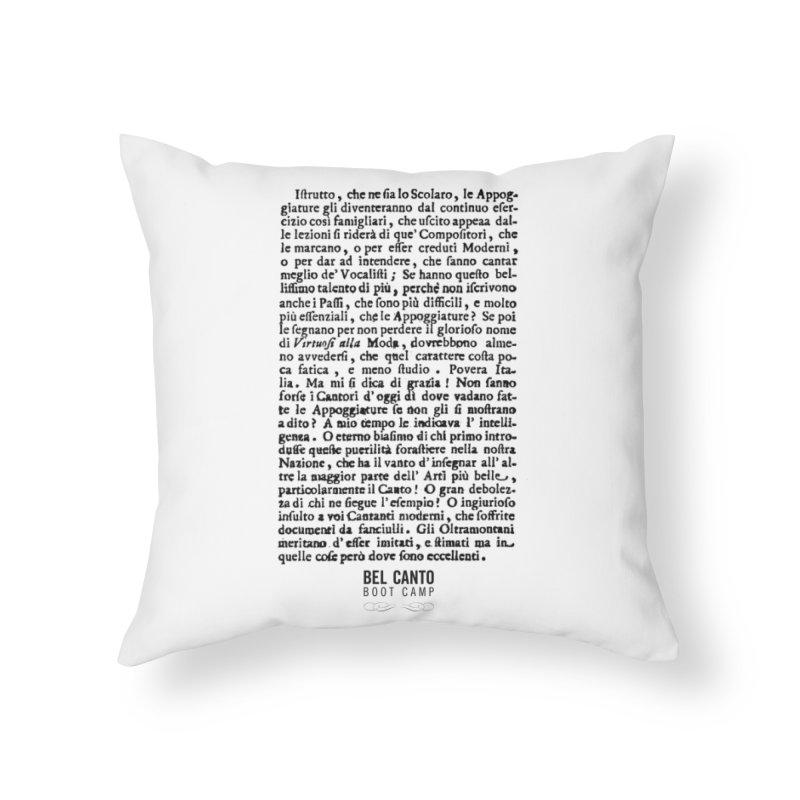 Tosi Home Throw Pillow by belcantobootcamp's Artist Shop
