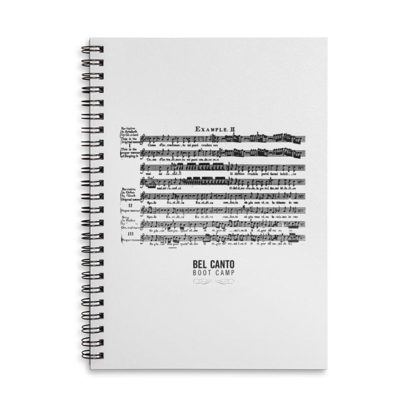 Corri Accessories Notebook by belcantobootcamp's Artist Shop