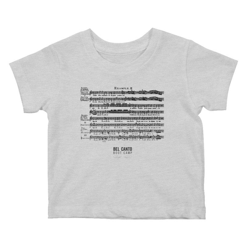 Corri Kids Baby T-Shirt by belcantobootcamp's Artist Shop