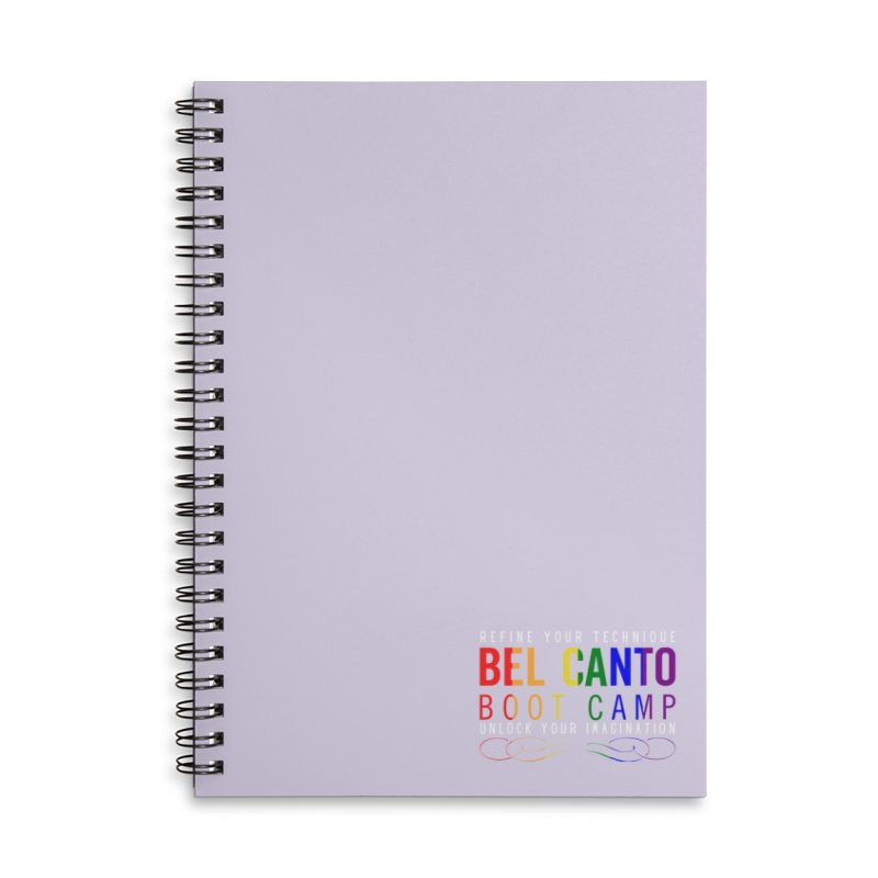 BCBC Pride Accessories Notebook by belcantobootcamp's Artist Shop