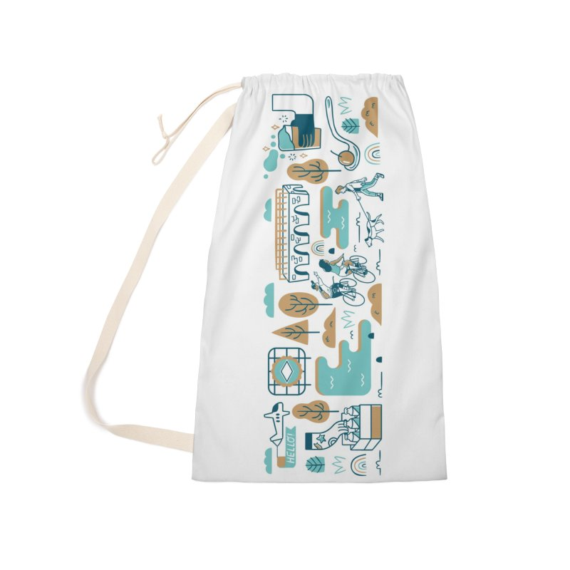 A Day in the Life Accessories Laundry Bag Bag by bellyup's Artist Shop