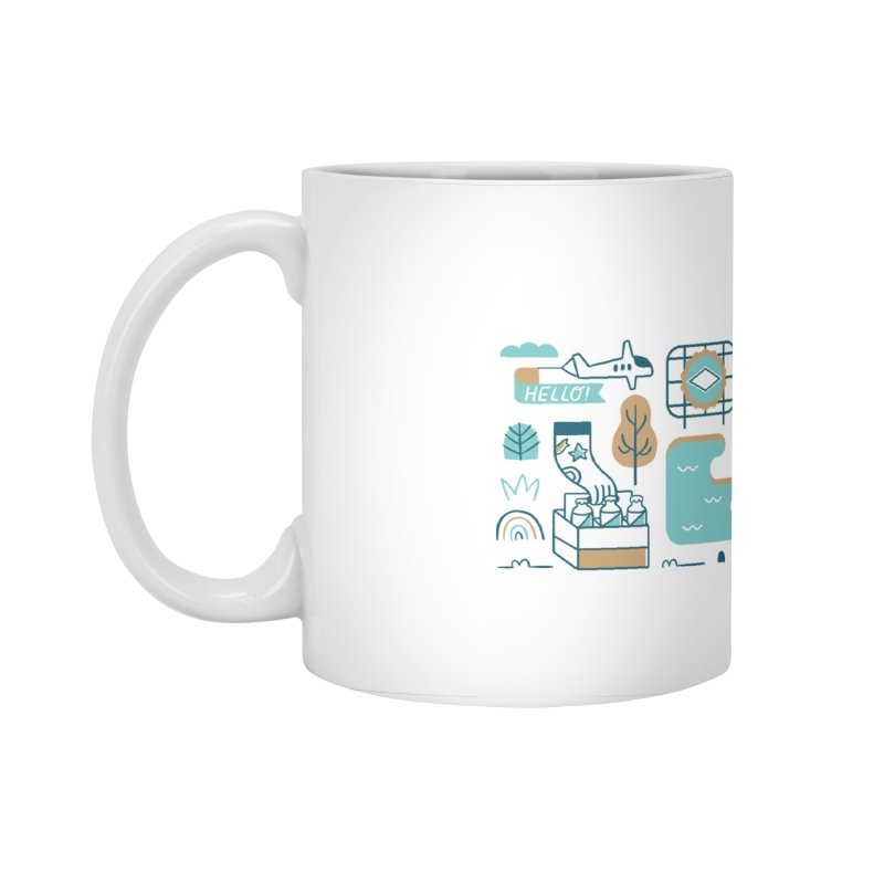 A Day in the Life Accessories Standard Mug by bellyup's Artist Shop