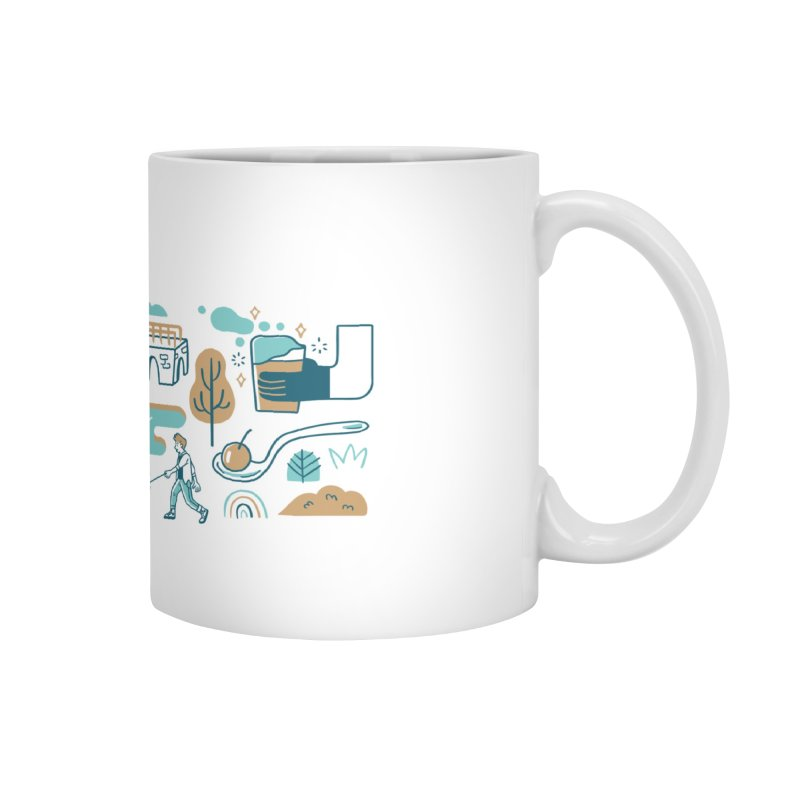 A Day in the Life Accessories Mug by bellyup's Artist Shop