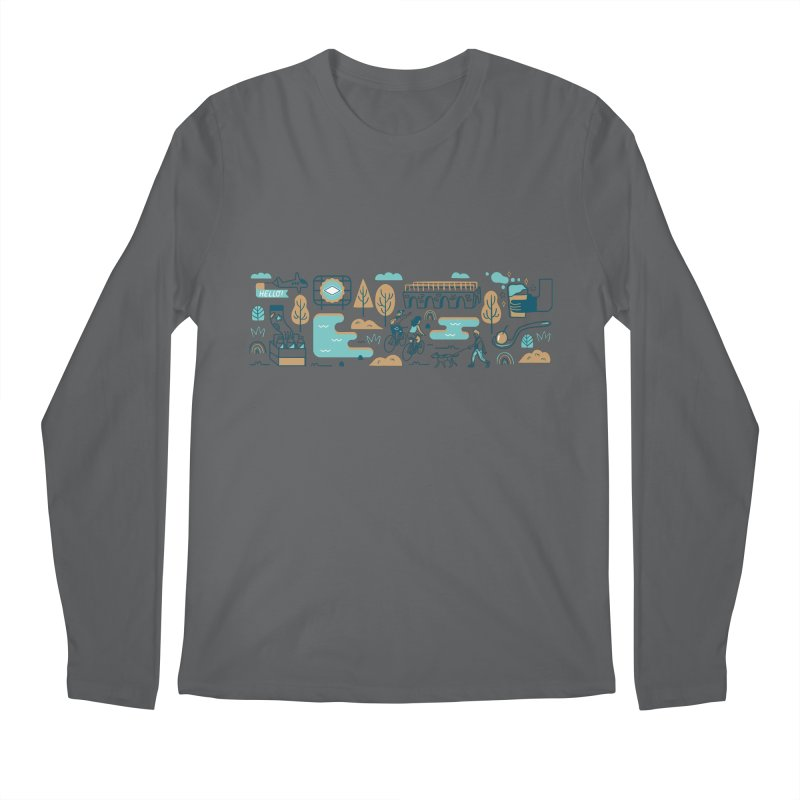 A Day in the Life Men's Longsleeve T-Shirt by bellyup's Artist Shop