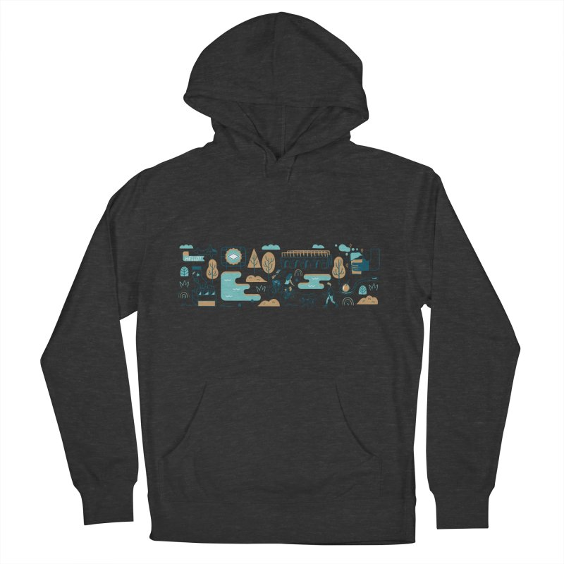 A Day in the Life Women's French Terry Pullover Hoody by bellyup's Artist Shop