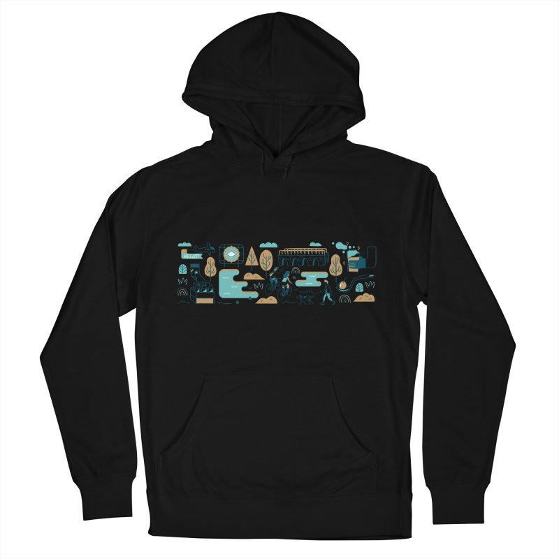 A Day in the Life Men's French Terry Pullover Hoody by bellyup's Artist Shop