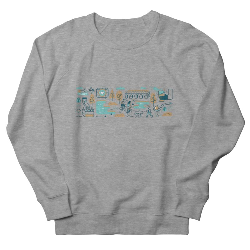 A Day in the Life Women's French Terry Sweatshirt by bellyup's Artist Shop